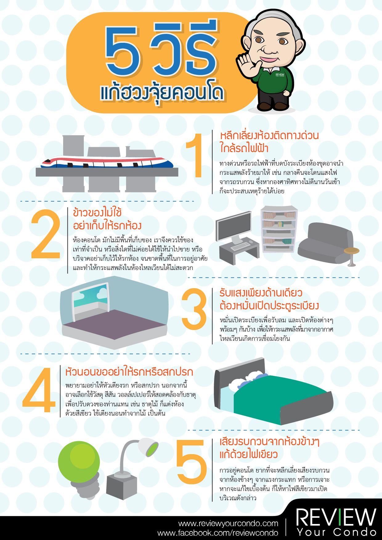 5 วิธีแก้ฮวงจุ้ยคอนโด