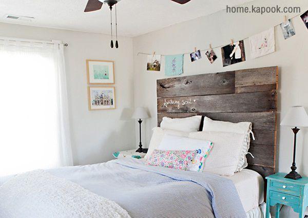 แต่งห้องนอนตรงหัวเตียงไม้ ไม่ซ้ำใคร
