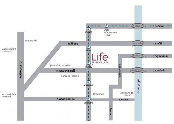 Life ปิ่นเกล้า_Map