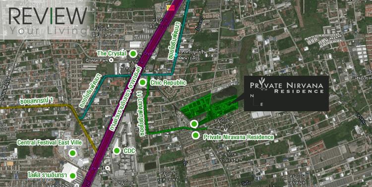 แผนที่โครงการ Private Nirvana Residence North 'n East