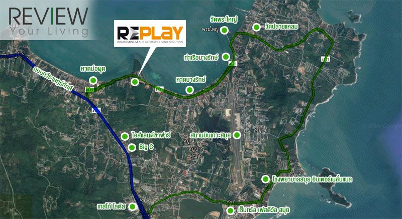 RePlay-Residence-and-Pool-Villa-Koh-Samui-รีวิว-คอนโด-review-your-living-Location