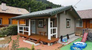 แบบบ้านไม้หลังเล็กๆ ชั้นเดียว สไตล์ญี่ปุ่น