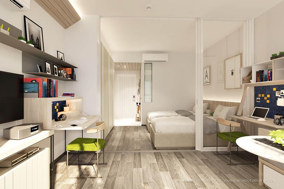 """ห้อง 1 Bedroom คอนโด สามย่าน มิตรทาวน์ """"Triple Y Residence"""""""
