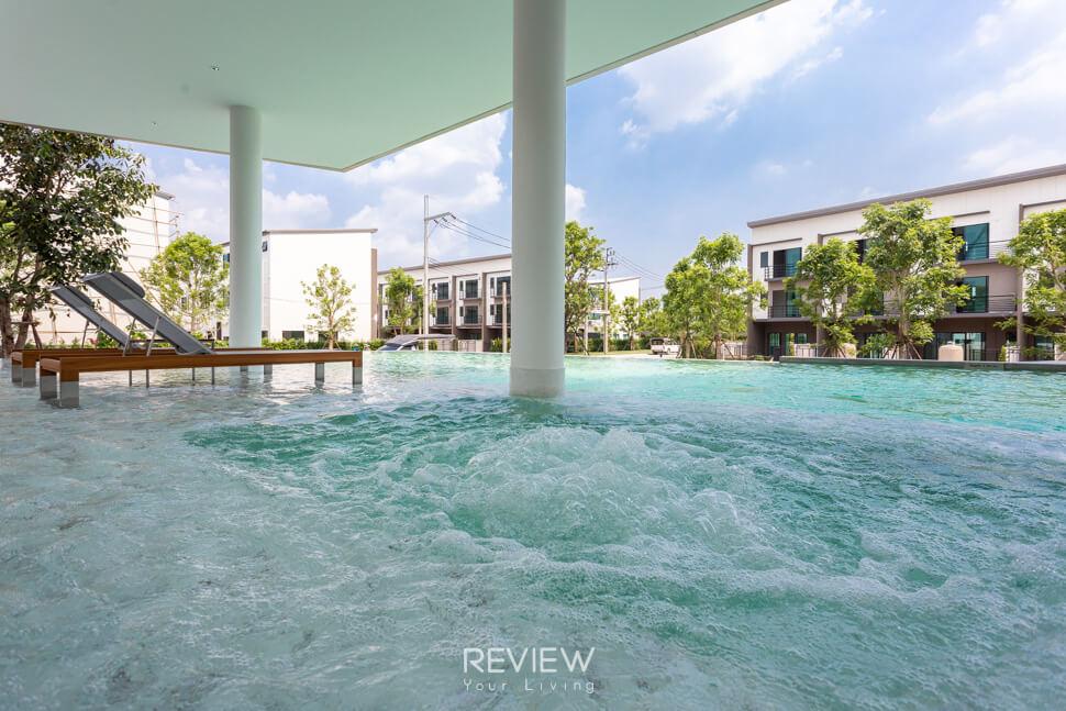 สระว่ายน้ำ ทาวน์โฮม รามอินทรา บ้านกลางเมือง รามอินรา