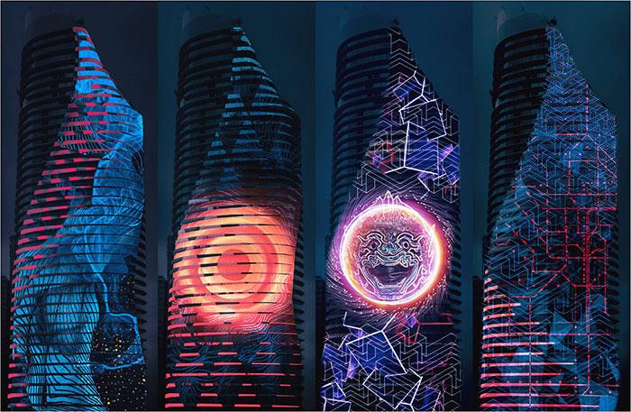 3D Mappingบนตึกสูง 60 ชั้น...ครั้งแรกในเมืองไทย!!