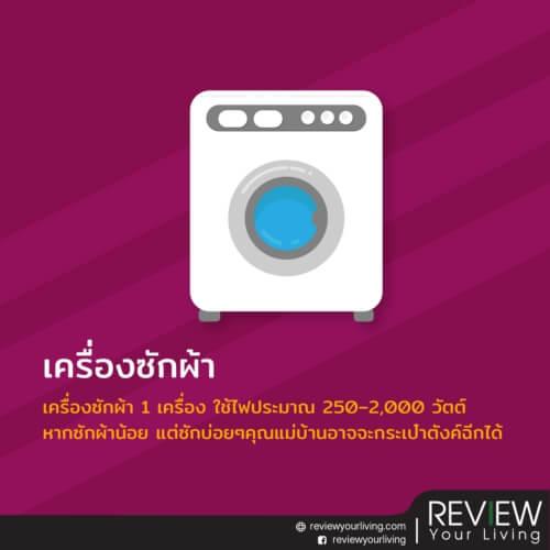 เครื่องซักผ้าเครื่องใช้ไฟฟ้าที่ต้องใช้ให้ดี