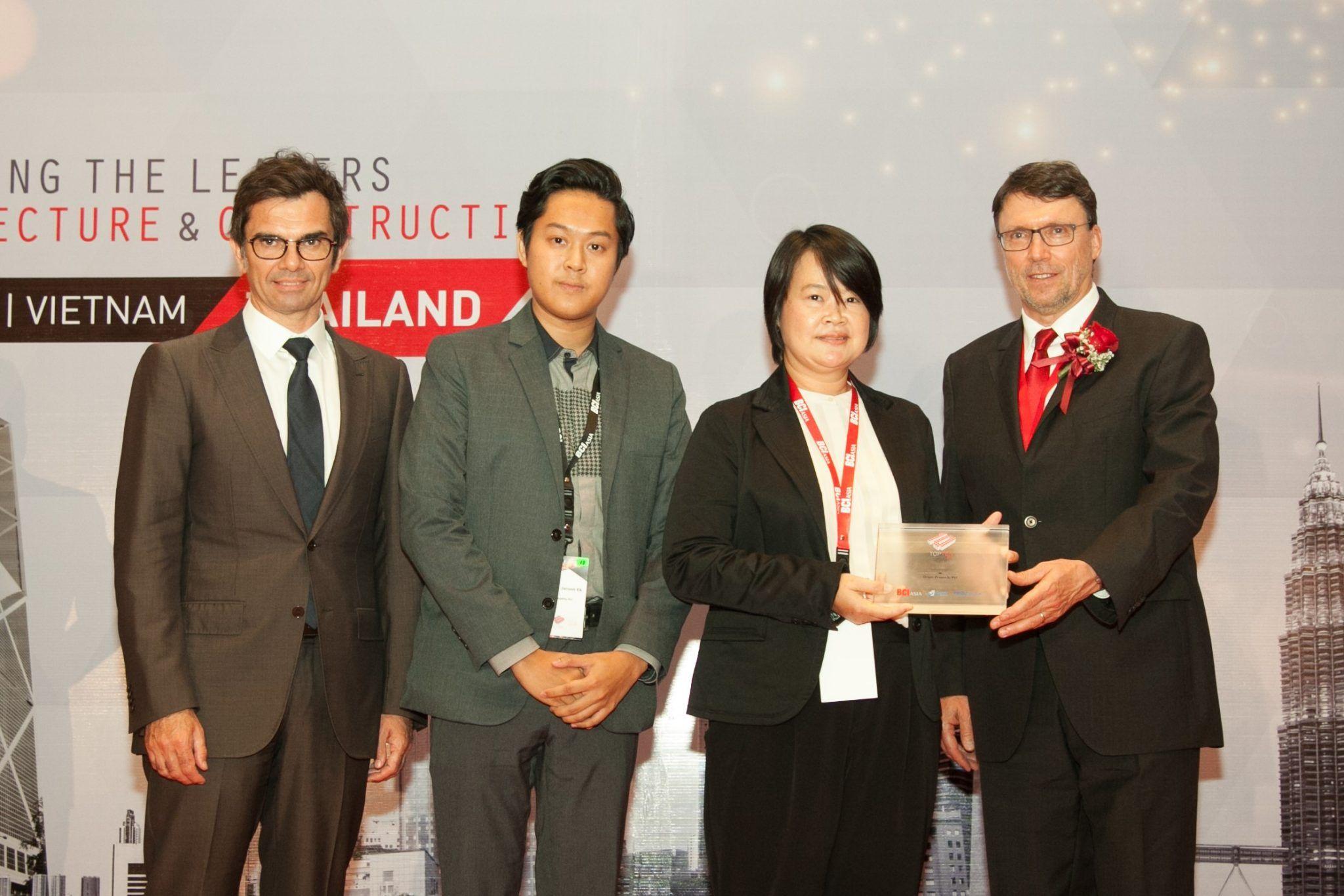 """""""ออริจิ้น"""" รับรางวัล Top 10 Developer จาก BCI Asia Awards"""