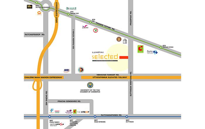 คอนโด The selected flagship brand ตัวท็อป ทำเลใจกลางเมือง จาก LPN