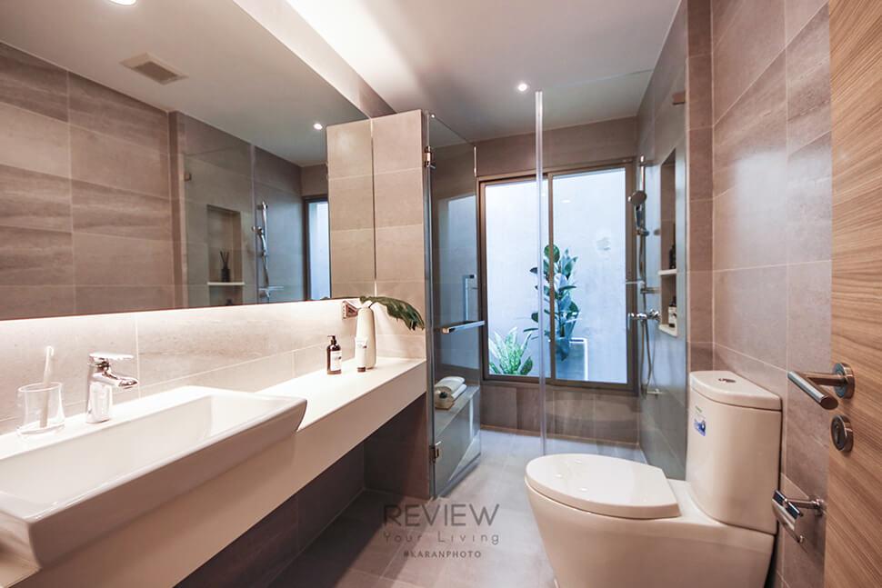 ห้องน้ำ สุขภัณฑ์คุณภาพ ในโครงการ Private Nirvana THROUGH Ekamai-Raminthra