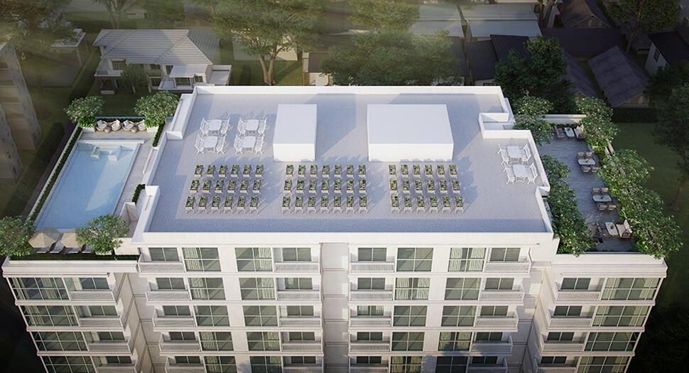 """บรรยากาศ Rooftop คอนโด ราชดำริ """"The Private Residence Rajdamri"""""""