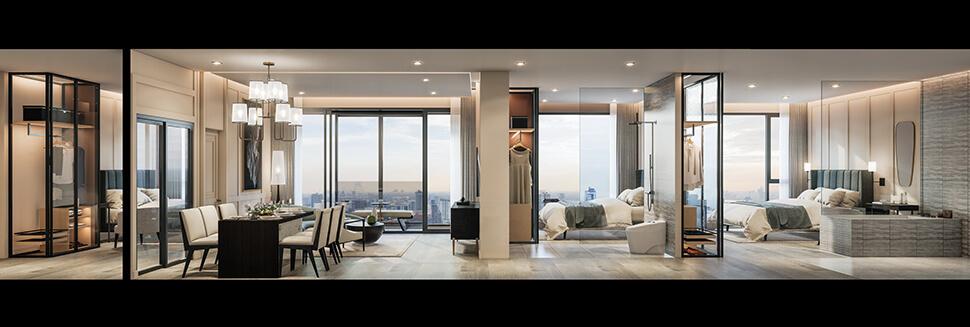 ห้อง 3 Bedroom คอนโด เอกมัย Impression เอกมัย-สุขุมวิท 61