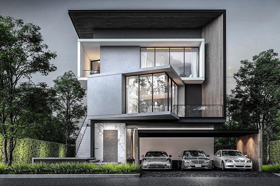 แบบบ้าน Luxe โครงการ Nirvana BEYOND พระราม 9 กรุงเทพกรีฑา