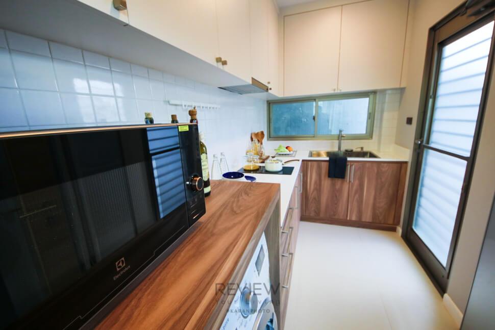 ห้องครัวปิด โครงการ Private Nirvana THROUGH Ekamai-Raminthra