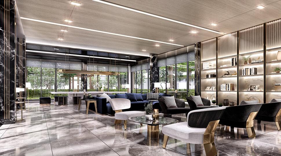 ล็อบบี้ Supalai City Resort Sukhumvit 107 คอนโด ใกล้บีทีเอส