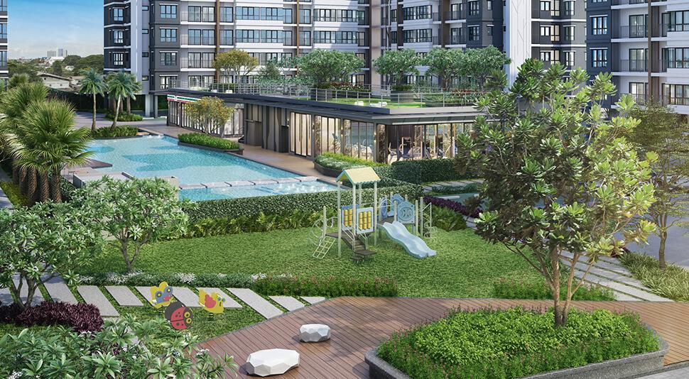 บรรยากาศโครงการ Supalai City Resort Sukhumvit 107