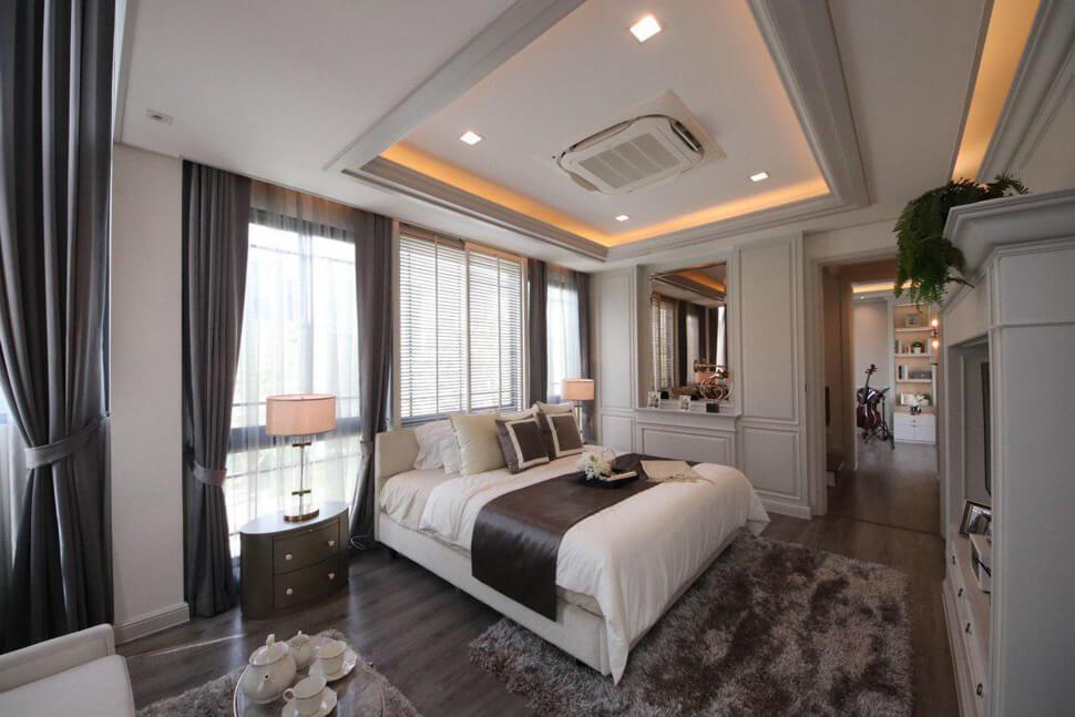 """ห้อง master bedroom บ้าน เฉลิมพระเกียรติ ร.9 """"THE SONNE ศรีนครินทร์-บางนา"""""""