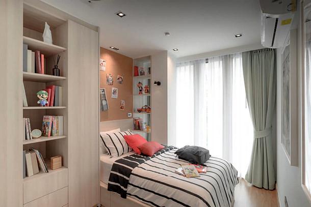 ห้องตัวอย่าง แบบ 2 ห้องนอน คอนโด TAKKA Sriwara