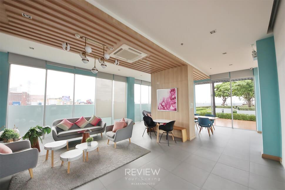 ห้อง Co-creation Space & Study Roomด้านข้างสระ คอนโด Aspire Ngamwongwan