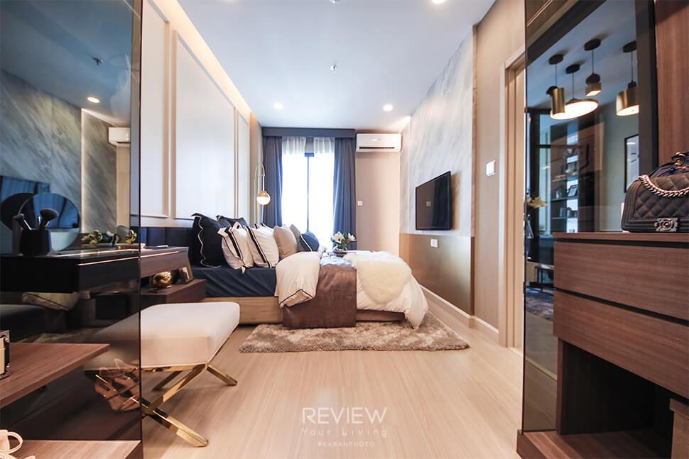 Master Bedroom ของห้อง 1 Bedroom Plus โครงการ Supalai Lite Thaphra Wongwianyai