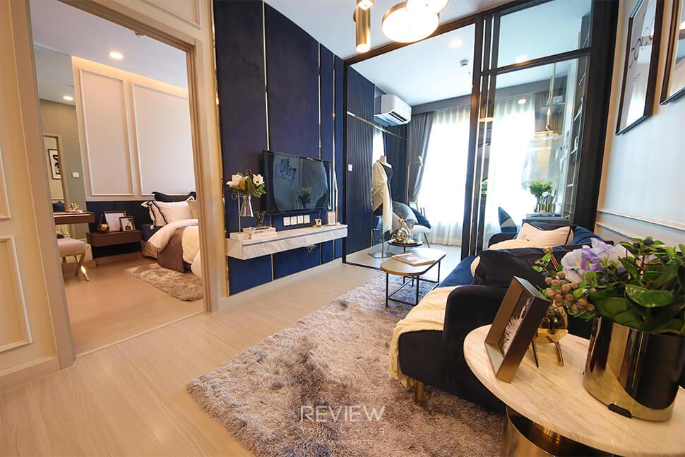 ห้องแบบ 1 Bedroom Plus โครงการ Supalai Lite Thaphra Wongwianyai