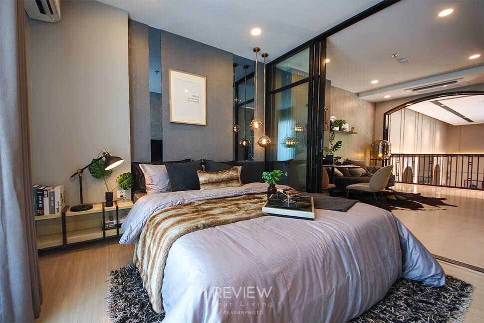 ห้องนอน ของห้อง 1 Bedroom คอนโด Supalai Lite Thaphra Wongwianyai