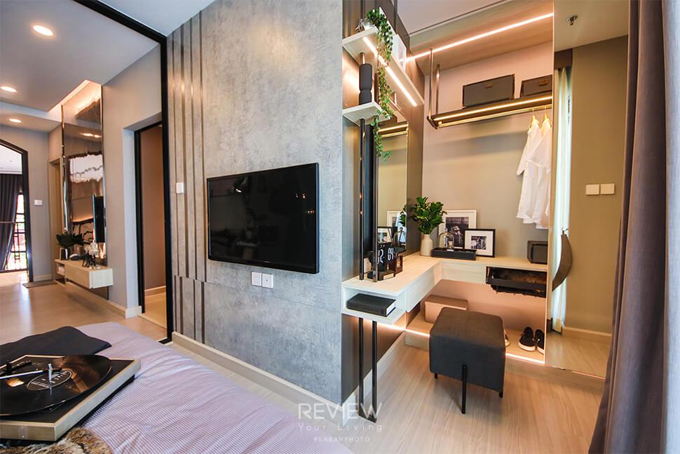 ห้องตัวอย่าง ขนาด 1 ห้องนอน คอนโด Supalai Lite Thaphra Wongwianyai