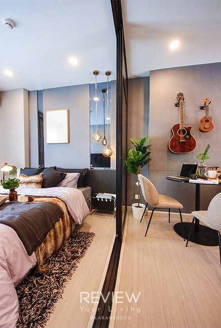 ห้องแบบ 1 Bedroom คอนโด Supalai Lite Thaphra Wongwianyai
