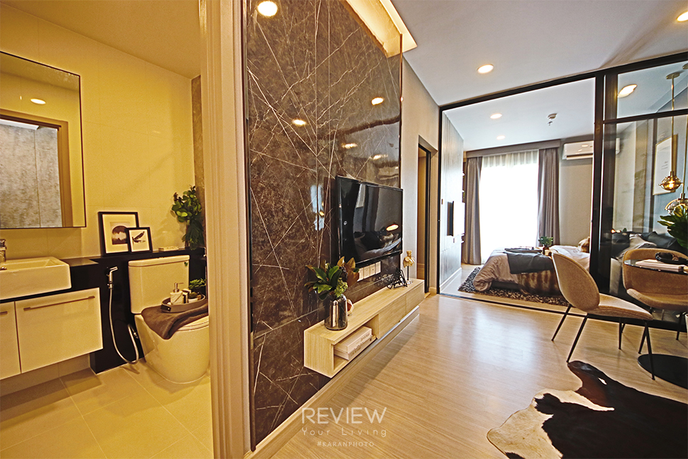 ห้องน้ำในตัว ห้อง 1 Bedroom 35.00 ตร.ม. Supalai Lite Thaphra Wongwianyai