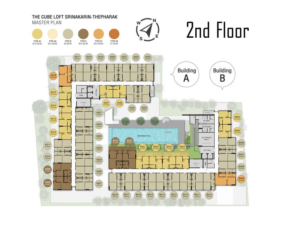 Masterplan คอนโด ใกล้รถไฟฟ้า The Cube Loft Srinakarin-Thepharak