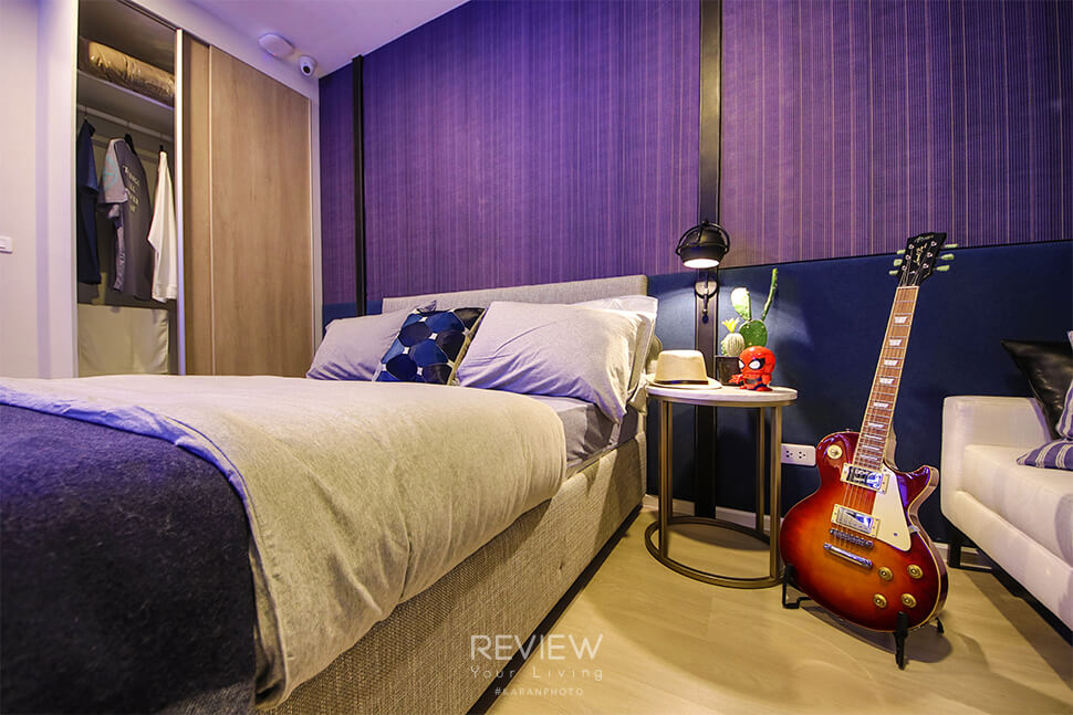 ห้องนอน Studio 22.5 ตร.ม.คอนโด Denim Jatujak