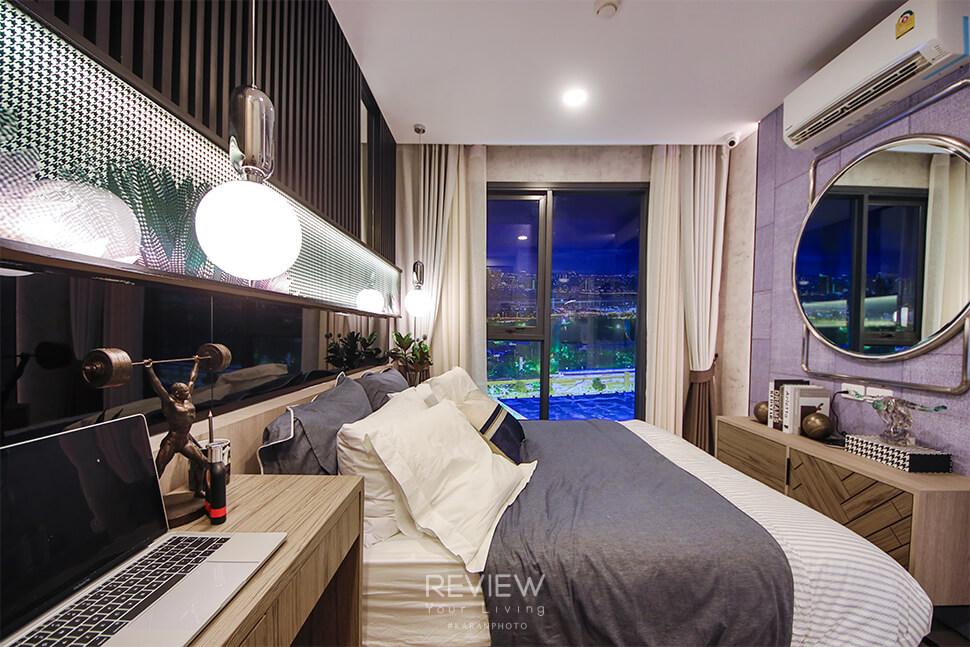 ห้องนอนของ 1 Bedroom Plus 33 ตร.ม.คอนโด Denim Jatujak