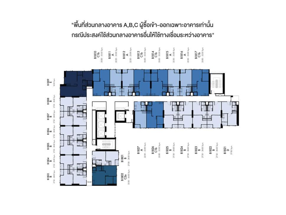 แปลนอาคาร B Denim Jatujak 3