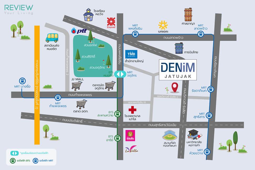 แผนที่โครงการ Denim Jatujak