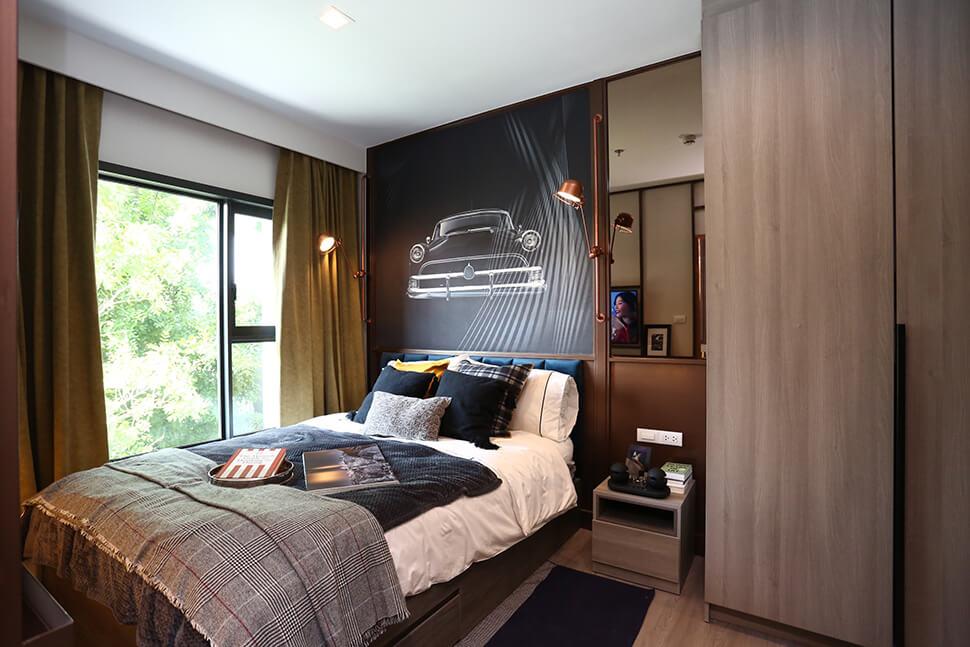 ห้องตัวอย่าง ภายในห้องนอน คอนโด เพชรบุรีตัดใหม่ The Base Phetchaburi Thonglor