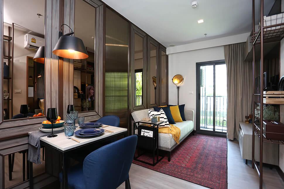 ห้อง Livingroom โครงการ The Base Phetchaburi Thonglor คอนโด เพชรบุรีตัดใหม่