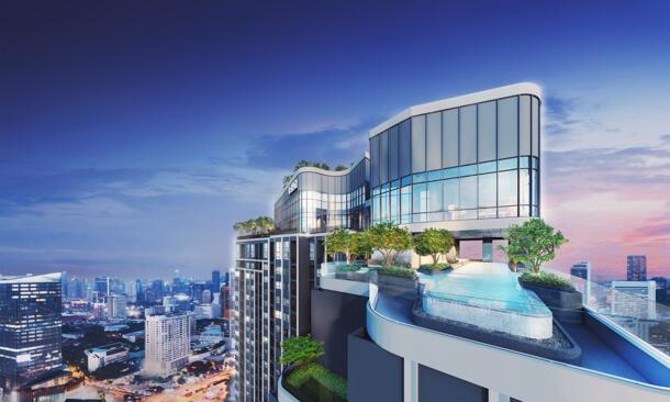 สระว่ายน้ำ ชั้น Rooftop โครงการ Ideo Chula-Samyan