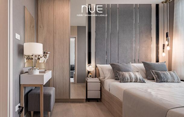 ห้องนอน คอนโด Nue Noble ศรีนครินทร์-ลาซาล