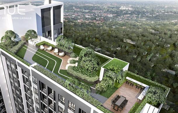 ชั้น Rooftop คอนโด Nue Noble ศรีนครินทร์-ลาซาล
