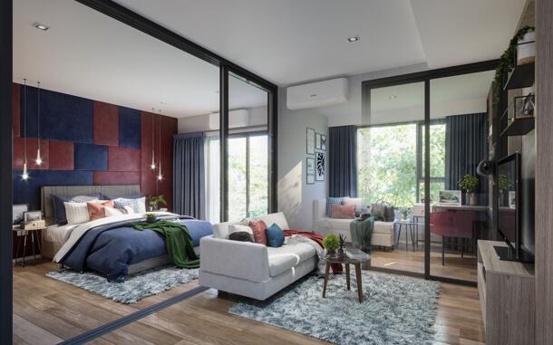1 Bedroom Plus คอนโด Sena-Azu Rama 9