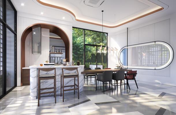 ภาพ Co-Dining Space คอนโด Sena-Azu Rama 9