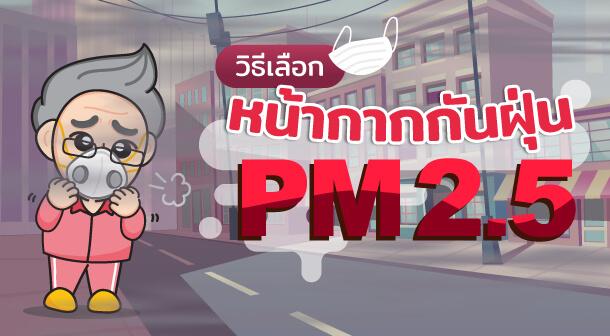 วิธีเลือก หน้ากากกันฝุ่น PM 2.5