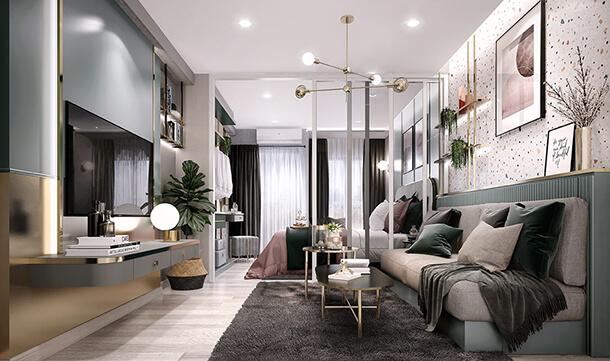 ห้องตัวอย่าง คอนโด จรัญ Supalai City Resort Charan 91 ใกล้รถไฟฟ้า