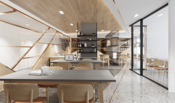 Co-Working Space ภายในคอนโด The Centro Condo Bangsaen